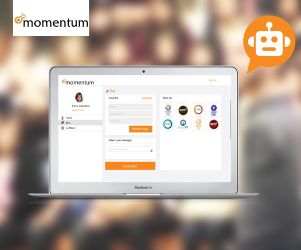 Stand-alone bot platform which enables the user to create/clone and edit multiple chatbots integrated with Facebook Messenger.https://momentumevents.com/